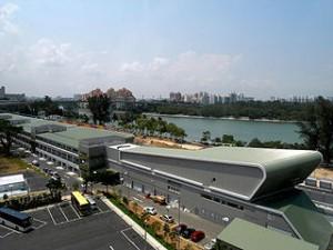 320px Singapore F1   Pit building 300x225 Speeding on F1 Circuit with Ferrari, Fun !