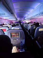 Virgin America airplane interior Mile High Club Info, British Travelers Most Hobbies Making Love in Airplane !