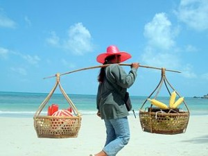 Beach at Ko Phangan 300x225 Alone Girls Travel Ideas, Nice Safe Places for Everyone