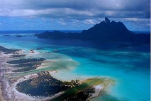 Bora bora from air 300x202 The Cool Dream Super Expensive Travel Destinations in The World