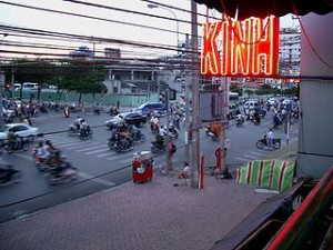 Pham Ngu Lao street in Saigon 300x225 Hanging on Pham Ngu Lao Street, Backpacker Center in Saigon (Ho Chi Minh City) Vietnam
