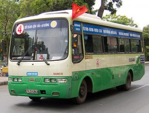 Saigon Bus 300x227 US$0,25 Ticket Bus Between Airport to Saigon, Cheapest Bus Fare in Asia