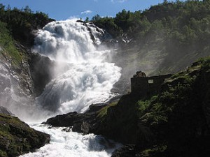 Waterfall in Norway 300x225 Gudvangen to Flam Route, Norway in a Nutshell Review