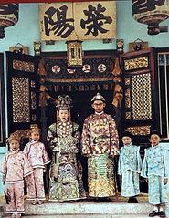 Wedding portrait of a Peranakan couple Exploring History in Popular Singapore Tourist Museum