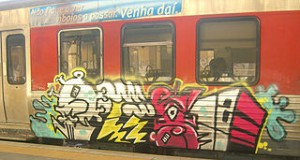 Graffiti   European train 300x160 Around Europe by Train Before Aged 27 Years, More Cheap