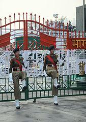 India Border guards at Atari India Play Snow Ski Joint With India Pakistan Border Army