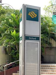 MRT station Orchard Stay in Geylang Hotel and Walking Around Orchard Road