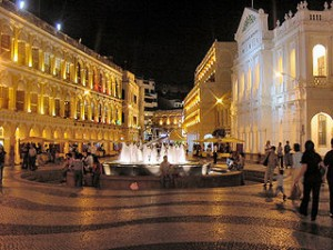 Macau Senate Square at Night 300x225 Travel Ideas Around Macau in One Day, Visit Best Destinations