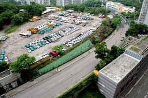 Sin Fat Road from Sceneway 300x199 The Unique Hongkong Enchantment Lam Tin Park