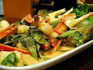 Thai food crabs claws basil 300x225 Culinary Thailand, Enjoy Popular Food of Southeast Asia Taste