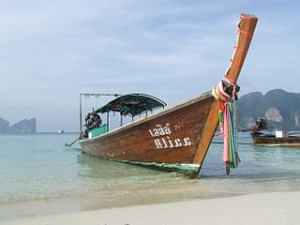 Thailand koh phi phi long boat 300x225 The Best Place To Love and Feelings Honeymoon in Thailand