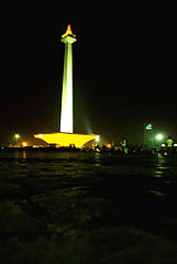 Monas nighttime Some Cool Square Park for Relax Traveling in Java