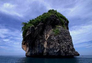 Karst limestone in Nui Bay Ko Phi Phi Don 300x206 Passing Hat Yai, Malaysia Thailand Border City