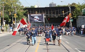 Ironworkers in Labour Day parade 2008 Toronto 300x183 The Coolest Labor Monument in The World
