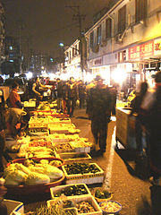 Night Market in the Old City of Shanghai Sadistic Cheap Price Bargain When Shopping Souvenirs in Shanghai