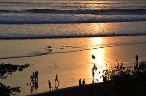 Bali sunset 300x199 Travel Guide to Legian and Seminyak beach