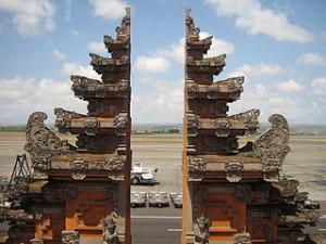 Denpasar airport balinese gate 300x225 Holiday Trip to Bali Island