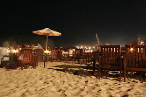 Night time at Jimbaran 300x199 Vacation Guide to Jimbaran and Kedonganan beach