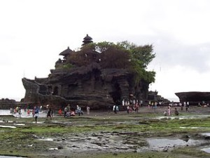 Pura tanah lot distance 300x225 Natural Beauty Garden and Village in Tabanan