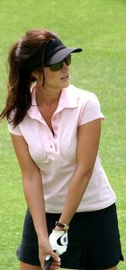 Stefanie Schaeffer playing golf 140x300 Playing Golf, Just a Hobby or Something Nice