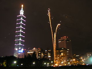 Taipei New Year Fireworks 300x225 Feel Sensation of Best New Year Party In The World