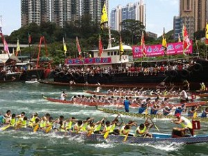 Dragon boat racing in Hong Kong 300x224 Dragon Boat & MU Holiday in Hong Kong