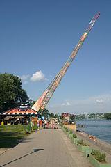 Ada Ciganlija bungee jumping Swing at Top of World