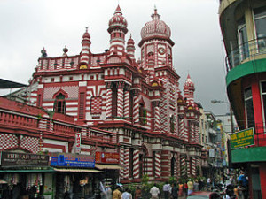 Jami Ul Alfar Mosque Pettah 300x225 Nice Decoration of Jami Ul Alfar Red Mosque in Colombo City