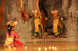 Ubud Legong dance 300x199 Watch Balinese Dance and Show Schedule