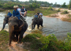 Fun Riding Elephant in Thailand