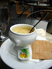 Fish soup in Bergen Culinary Food Festive in Bergen