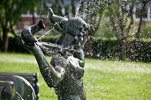 Fountain statue at the Gothenburg Botanical Garden Sweden 300x199 Gothenburg Botanical Garden Explore Guide