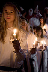 Lucia procession Join With Stockholm LGBT Pride Festival and Saint Lucia