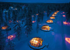 Glass Igloo of Kakslauttanen Arctic Resort, Finland Aurora Borealis