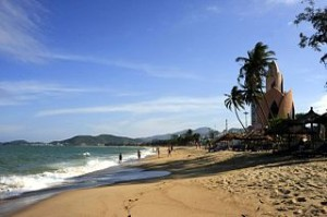 Beach at Nha Trang Vietnam 300x199 Vietnam Geography and Climate