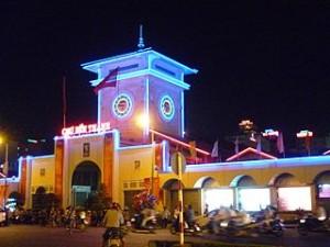 Ben Thanh market at night 300x225 Walking Tour Guide Around District 1 Saigon Itinerary