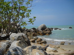 Teluk_Uber_Beach_Bangka_Island