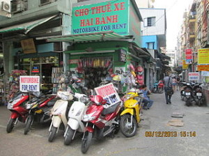 ho chi minh motorcycles rental and xe om